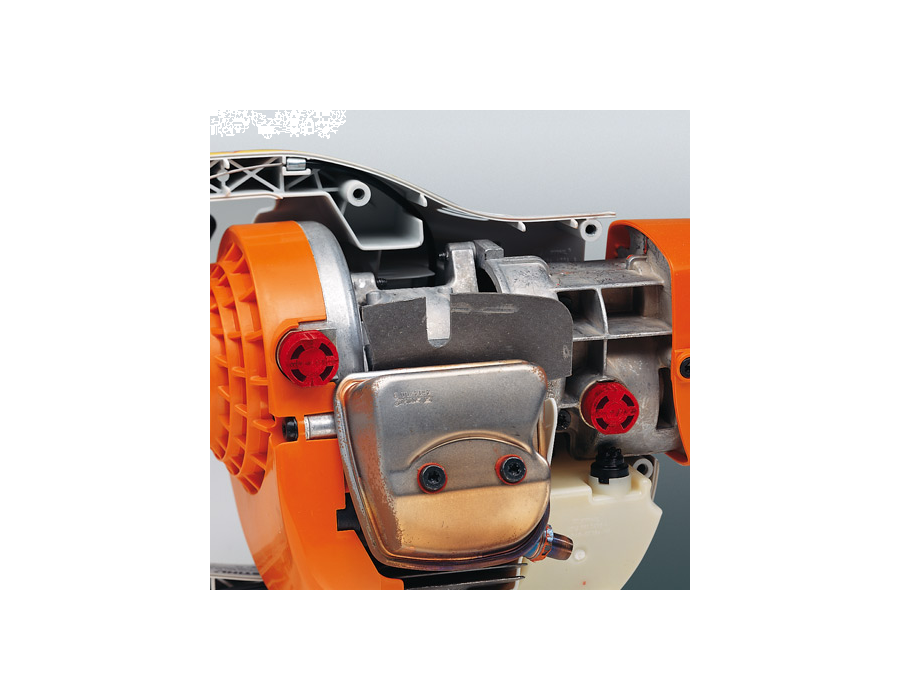 STIHL BT45 anti-vibration system