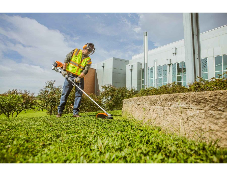 STIHL FS 111 RX Professional Grass Trimmer In Action