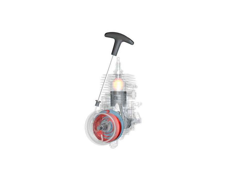STIHL Easy2Start™ (E) cuts the effort required to start the tool by half, while the starter cord can be pulled at just one third of the normal force