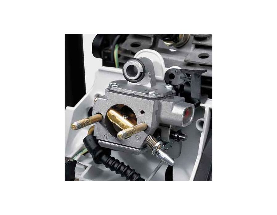 IntelliCarb™Compensating Carburetor - automatically adjust the air/fuel ratio when the air filter becomes restricted or partially clogged and maintains the engine's correct RPM. STIHL TS 800 Cut off Saw