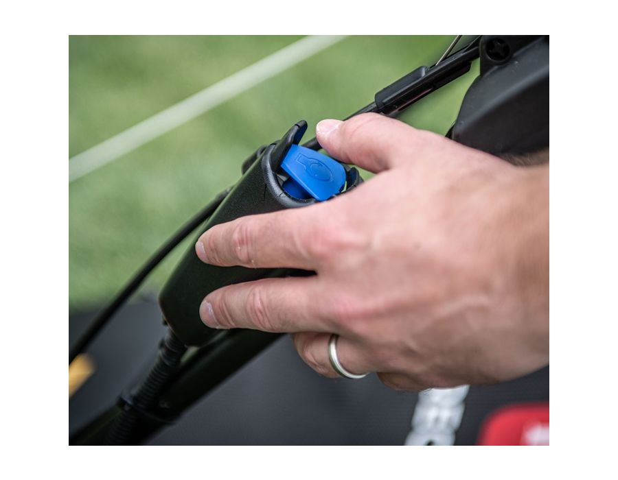 Electric Start - Simply push the button and you're ready to mow.