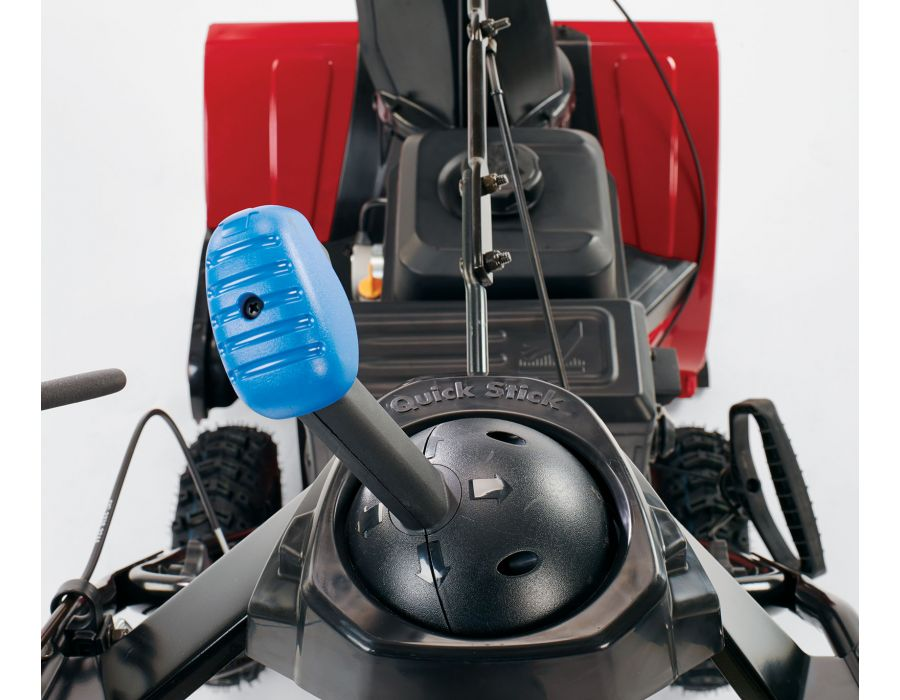 Innovative joystick control allows you to change chute direction and angle quickly and easily, on the go