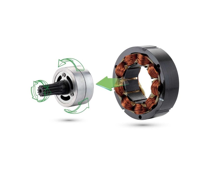 Brushless DC Motor - Get more power, more runtime and longer life than brushed motor.
