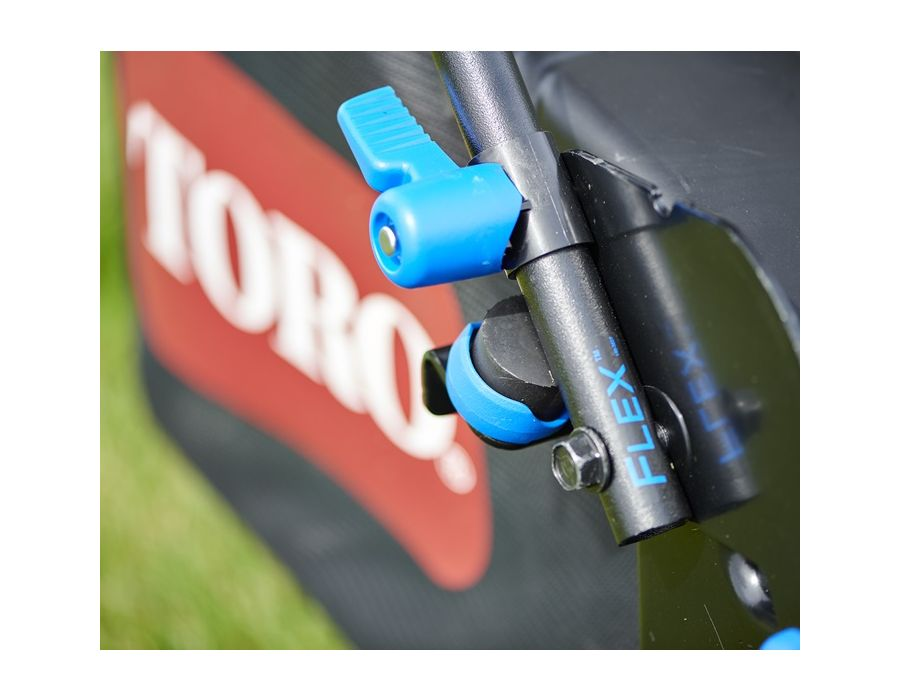 You'll glide over holes and bumps with ease with Toro's FLEX Handle™ suspension. No more achy hands and stiff muscles!