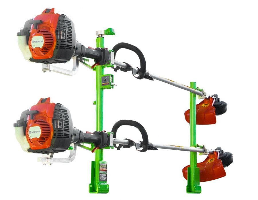 Green Touch Xtreme Series 2 Position Line Trimmer Rack XA102 for Open and Enclosed Trailers