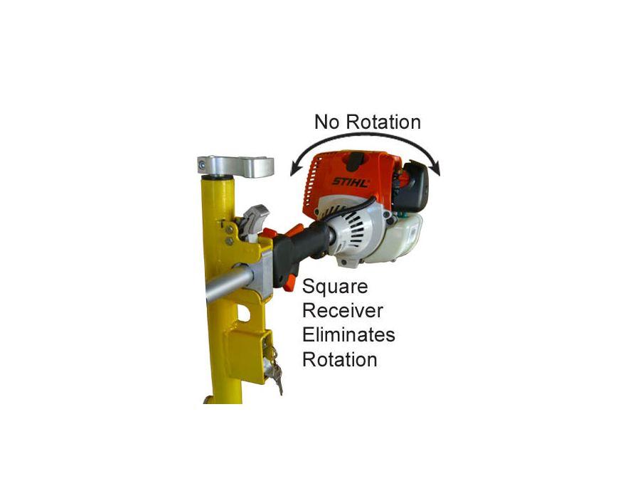 Square receiver eliminates rotation