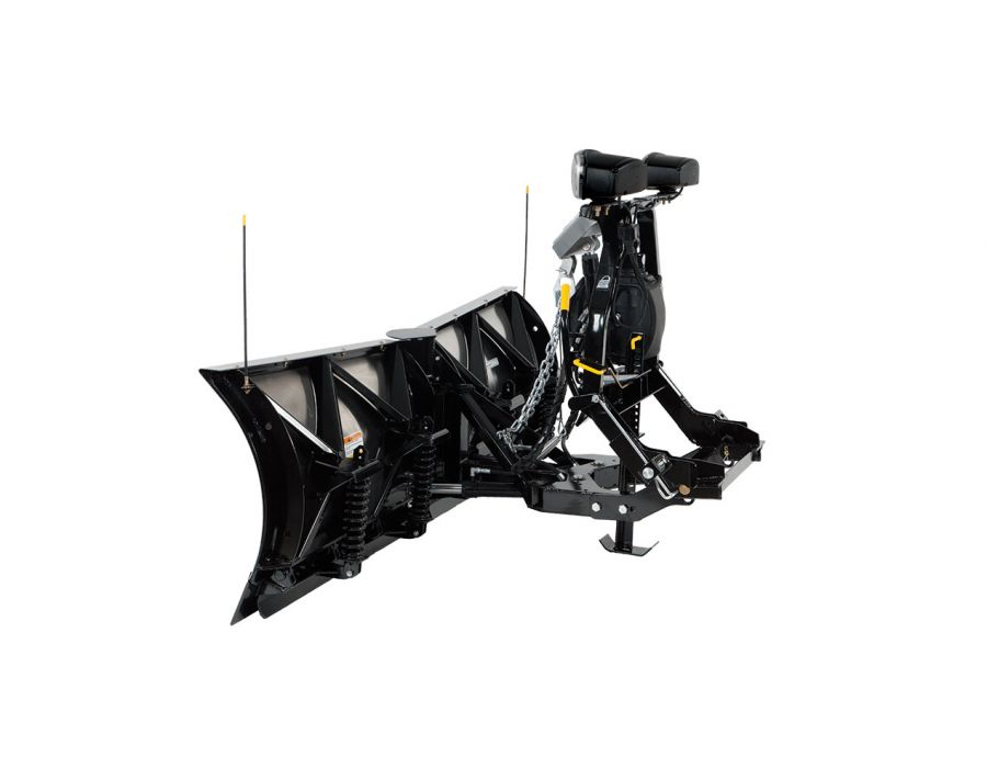 "Fisher 9'6"" XtremeV Stainless Steel V-Plow Side-View"