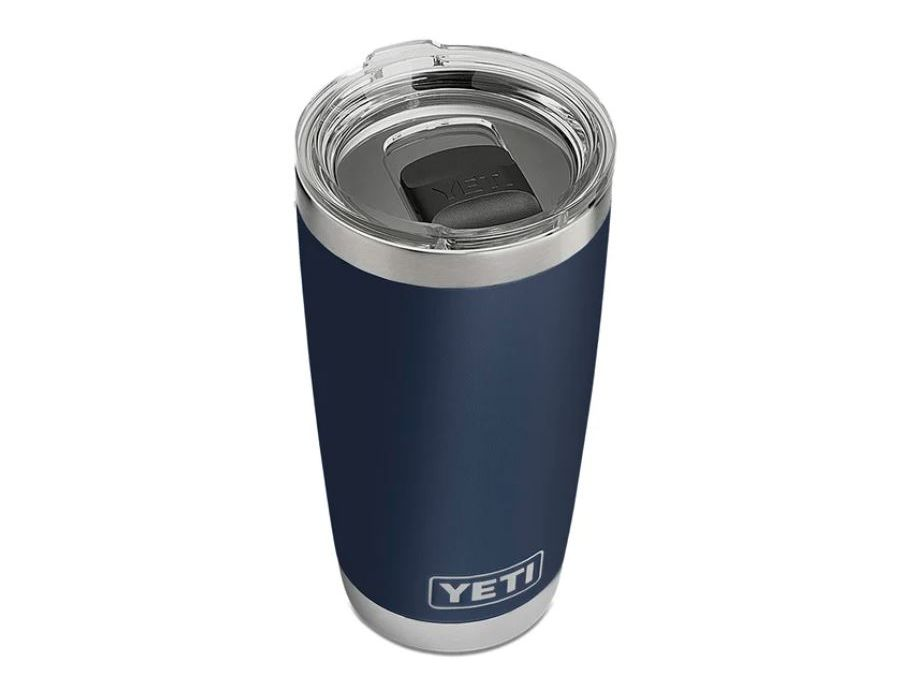 YETI Rambler 20oz Tumbler in Navy. Comes with MagSlider Lid