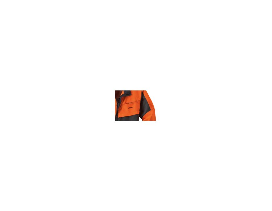 Visible design - To see and be seen are important aspects of accident prevention due to the varying lighting conditions in the forest. Therefore, large areas of bright or reflective colours are integral to the STIHL forestry clothing range