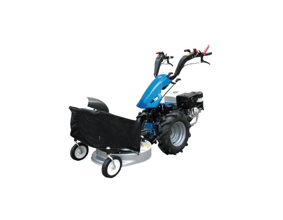 BCS lawnmower and catcher attachment