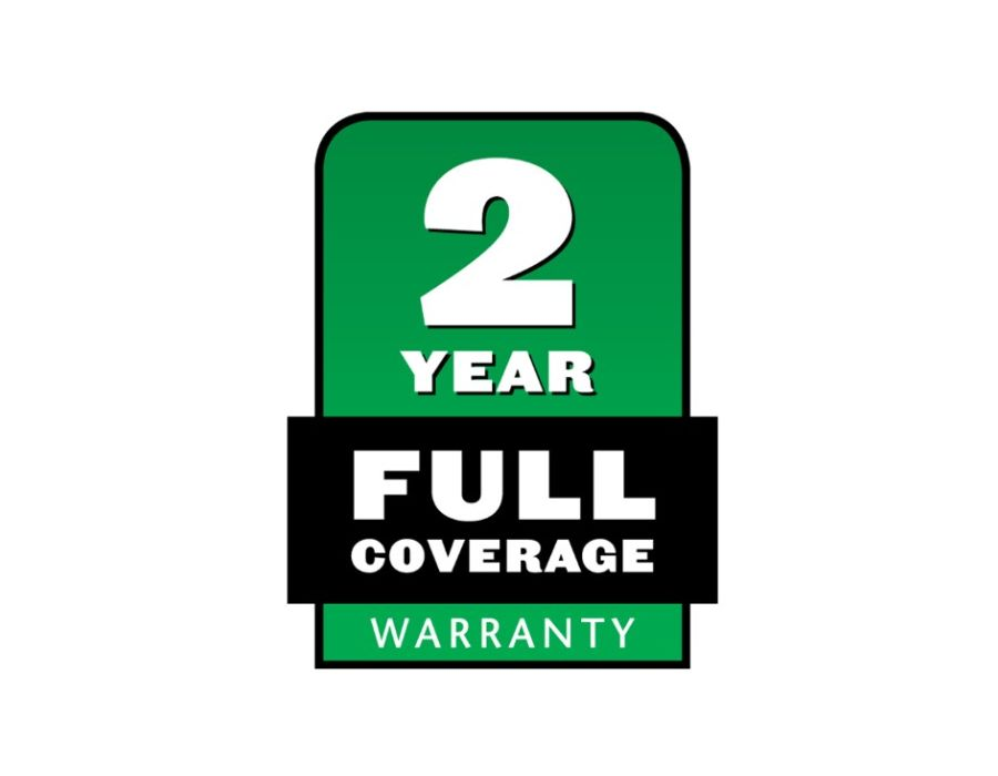 This product has a 2 year Full warranty. see in store for more details.