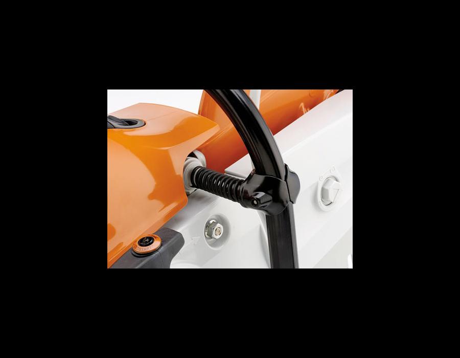 Anti-vibration system - Reduces vibration at the handles.