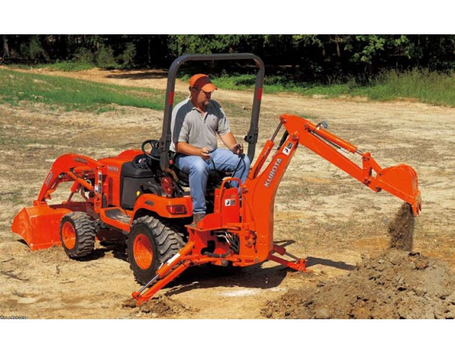The Kubota BX23S has an optional versatile category I 3-point hitch