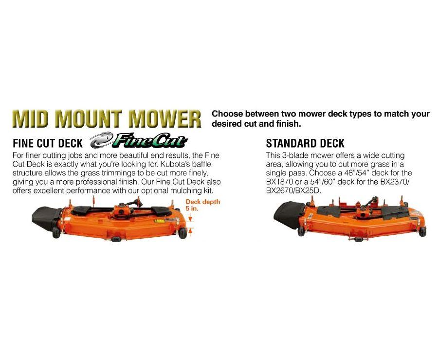 Chose between mower decks