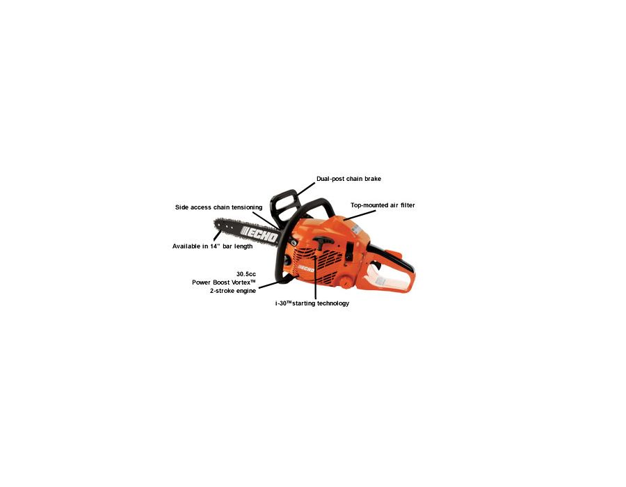 ECHO CS 310 chainsaw with descriptions