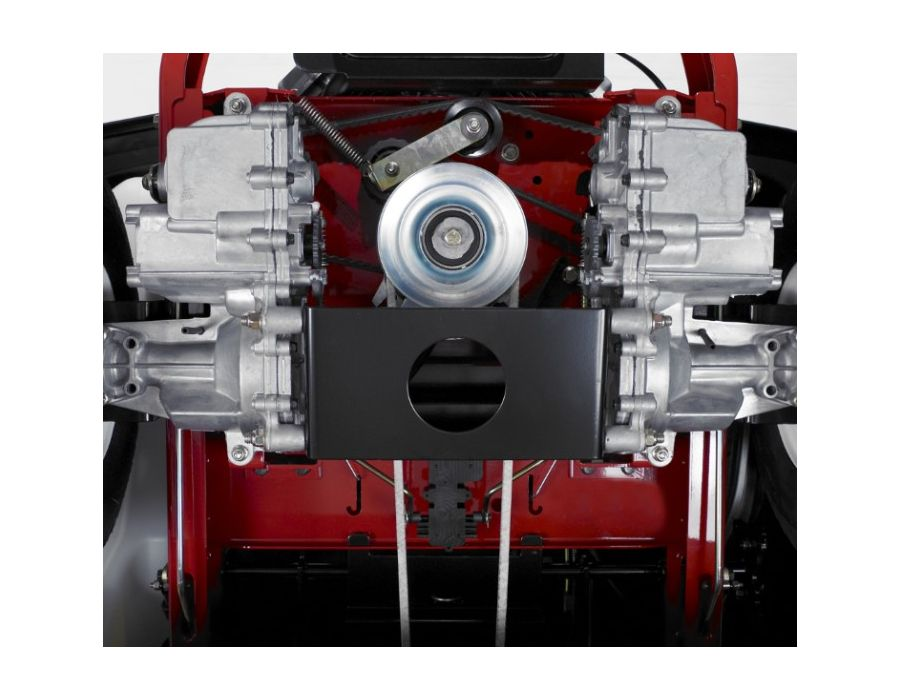 Independent hydrostatic drive systems provide responsive maneuverability and zero turning capabilities