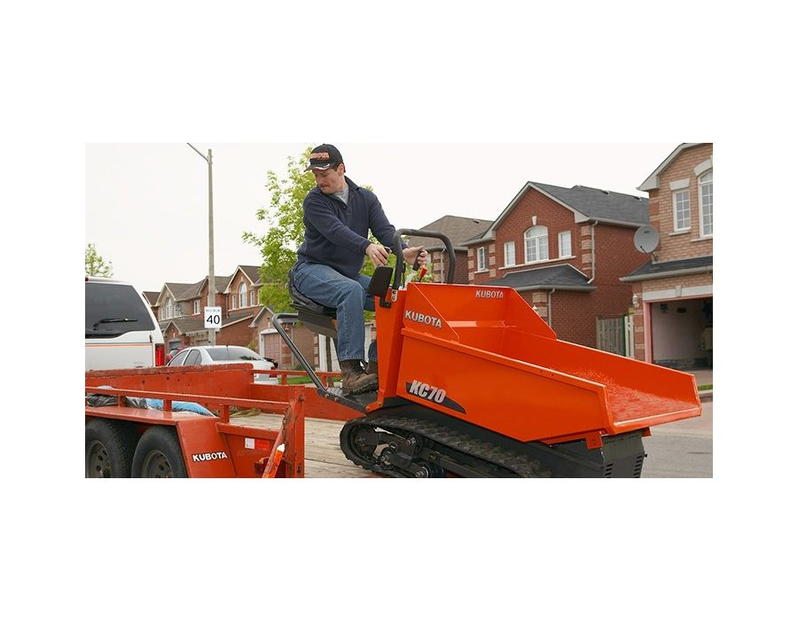 Kubota KC70 is easy to load on your trailer