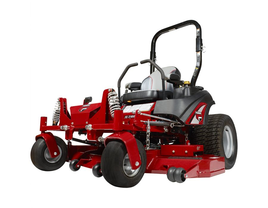 This commercial zero turn mower is equipped with adjustable front and rear suspension that restores control of the operator with adjustable coil-over-shock system for a refined ride with consistent & faster cut with less stress.