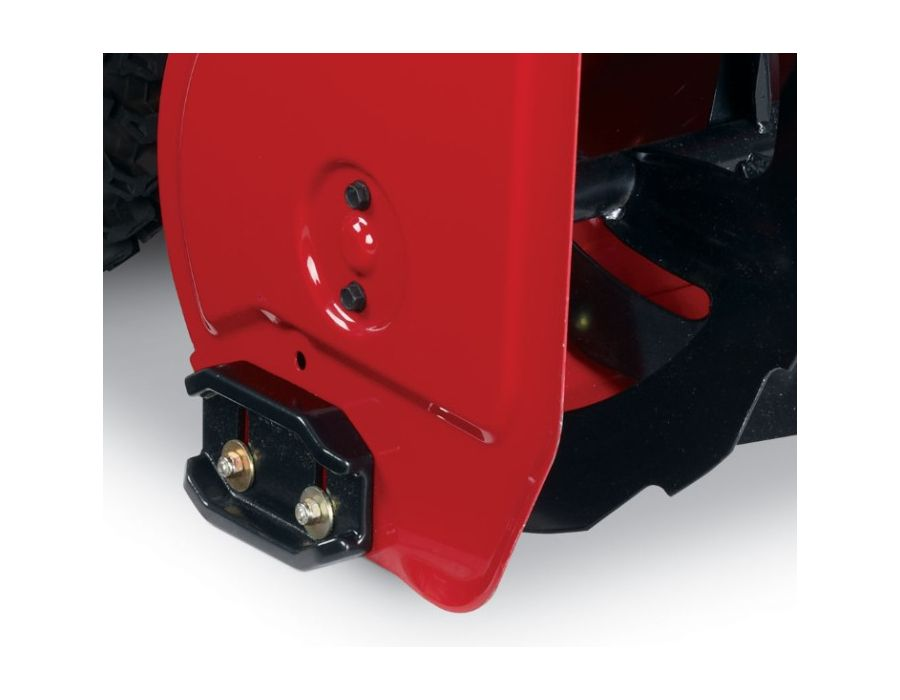 Heavy-duty Skid Plates -The heavy-duty cast iron skid plates protect the auger housing from rubbing on the ground when digging into the deep snow. The heig