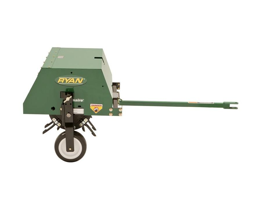Lawnaire® Tow-Behind Aerator Left Side