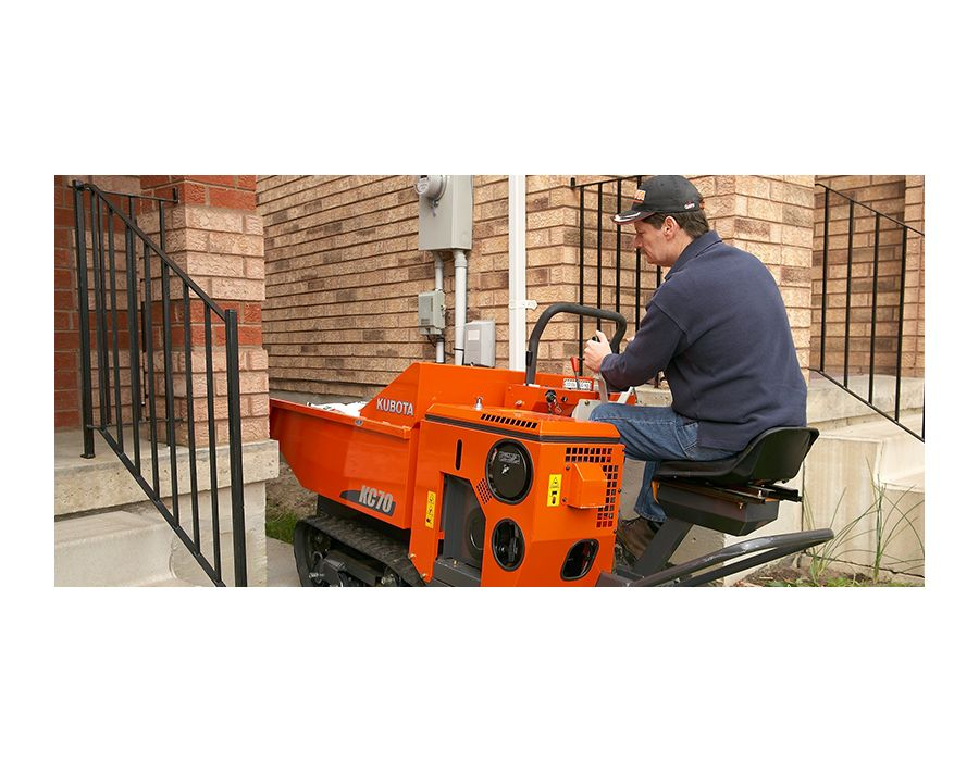 KC70 Kubota is perfect for use in residential areas where space is an issue