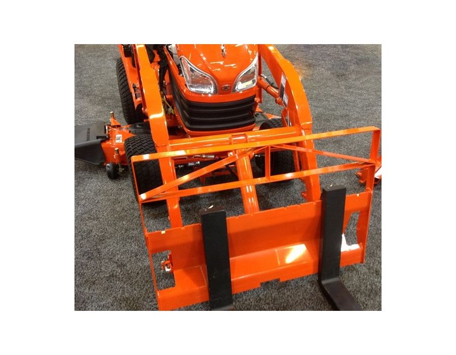Optional front attachments include pallet fork and front blade, giving BX-Series even greater versatility.