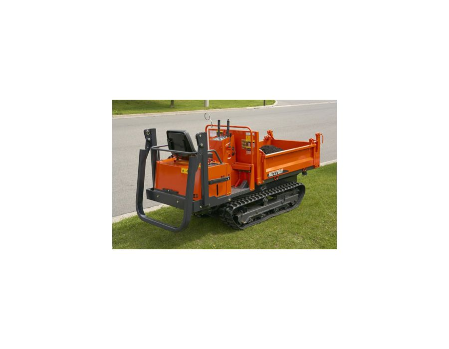 Foldable ROPS bar on the KC120HC-4 Kubota Rubber Track Carrier