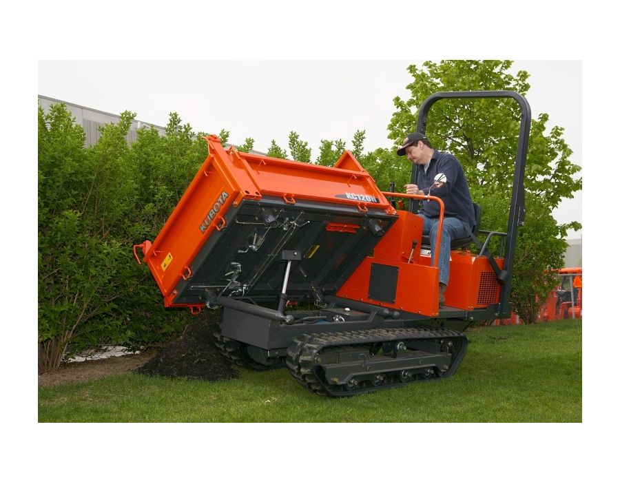 3 direction dumping makes the Kubota KC120HC-4 outstandingly versatile
