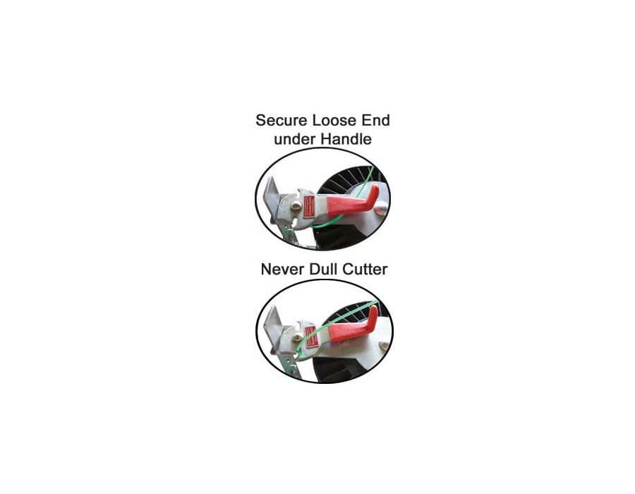 secure loose end under handle - never dull cutter