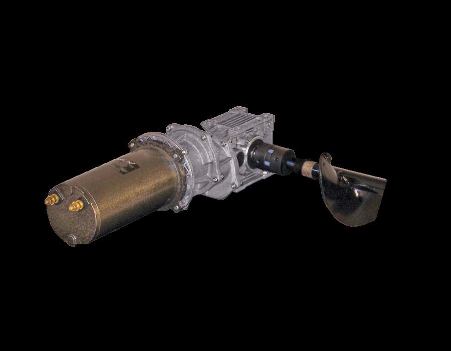 Longitudinal auger transmission