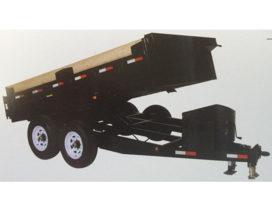 Medium Duty Dump Tandem Trailer MDD612 with 2' high sides by JDJ (6' W x 12' L)