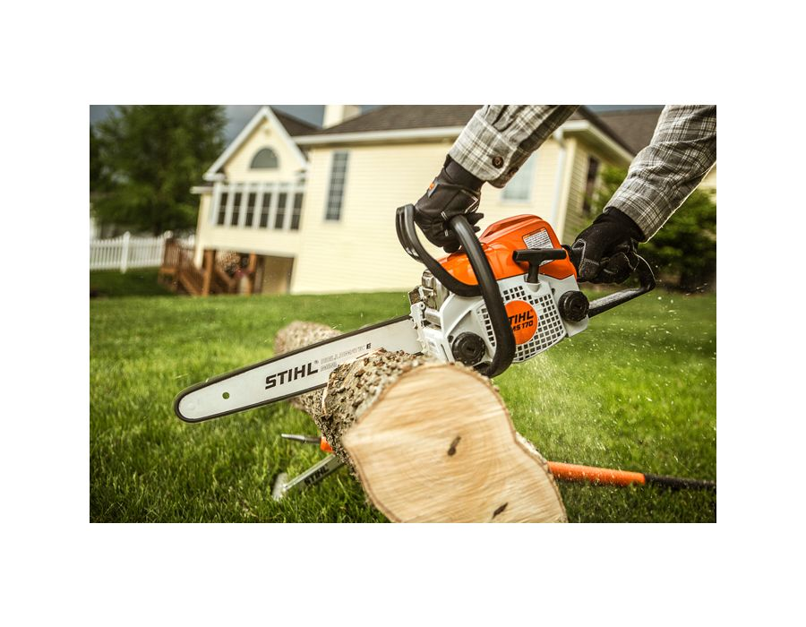 Compact, lightweight with just the right amount of power, the MS 170 makes quick work of trimming or cutting small trees and other tasks around the home or cottage.