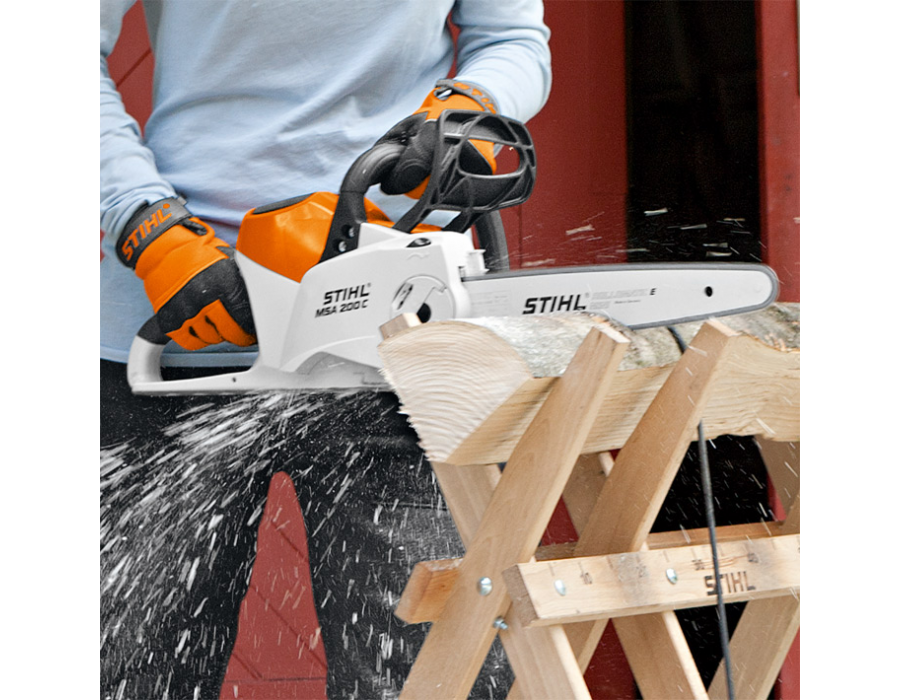 stihl msa 200 c bq lithium ion battery powered chainsaw with 14 bar lawn equipment snow. Black Bedroom Furniture Sets. Home Design Ideas