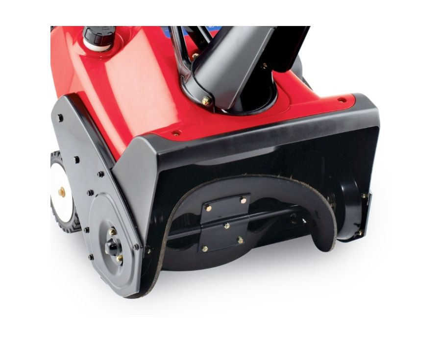 power curve system -this patented technology with curved rotor and inverted funnel housing, moves snow in less time and virtually eliminates clogging