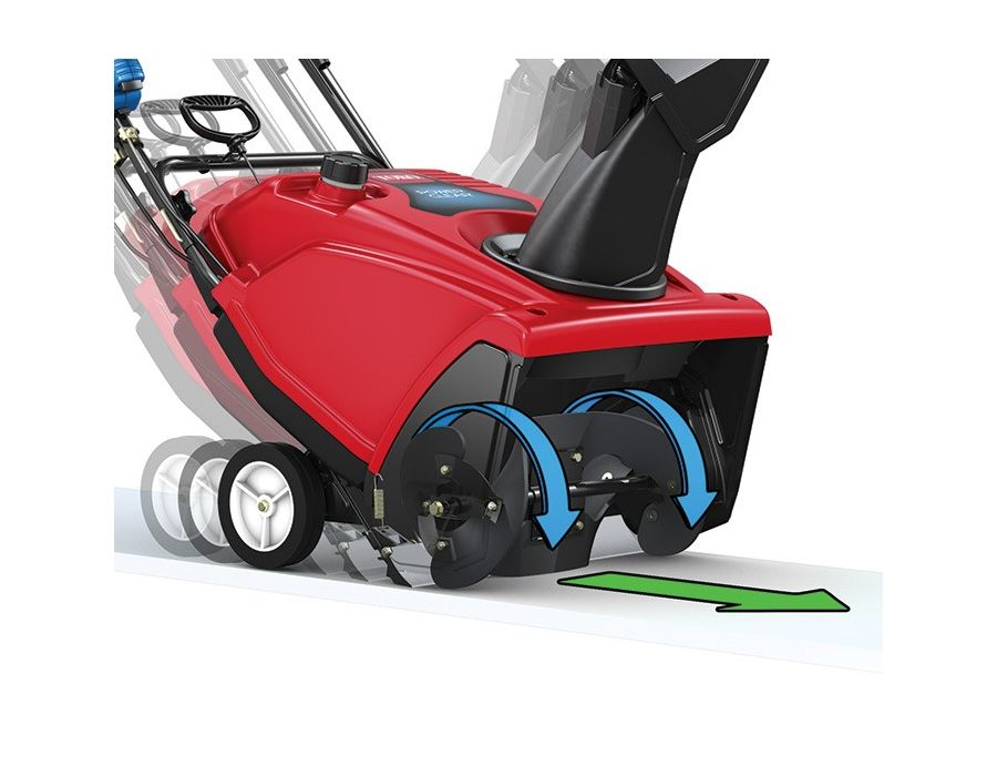 Power Propel™ Drive System - This system takes the work out of snowblowing. An innovative pivoting scraper keeps the rotor in constant contact with the pavement, making the job quicker and easier