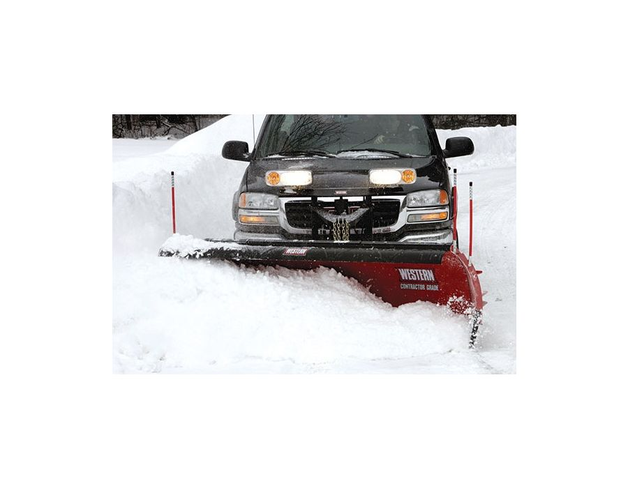 "Built for heavy-duty commercial and light municipal snow plowing, the powder-coated steel PRO PLUS blade is a full 31½"" tall"
