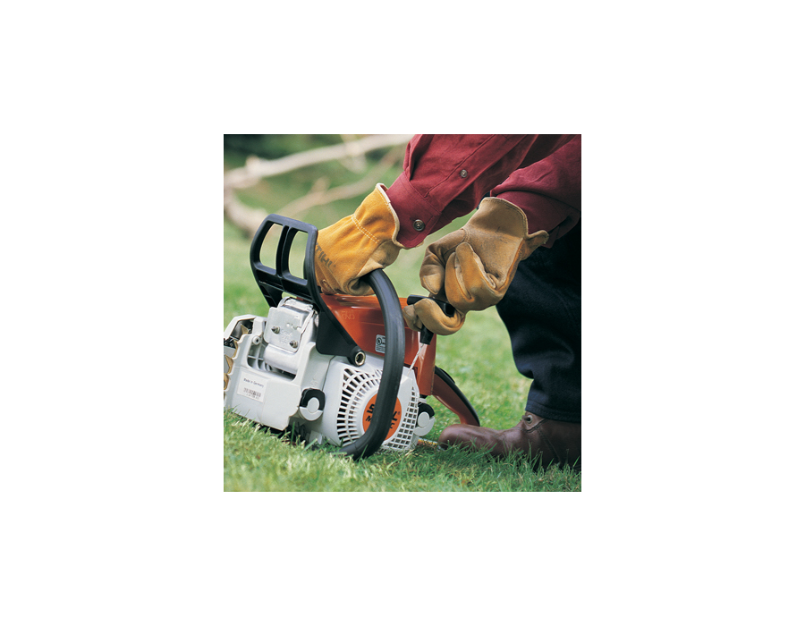 STIHL's Easy-to-Start System - designed to make starting STIHL products easier. A quick pull overcomes the engine's compression to minimize the strength and effort required to start