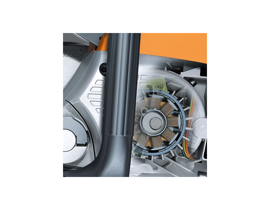 Lightweight and compact, STIHL electric motors require minimal maintenance and feature low noise levels and reduced vibration