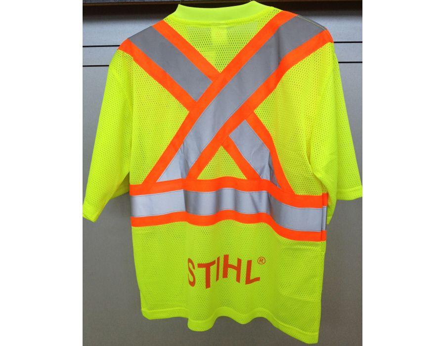 STIHL lime green saftey shirt