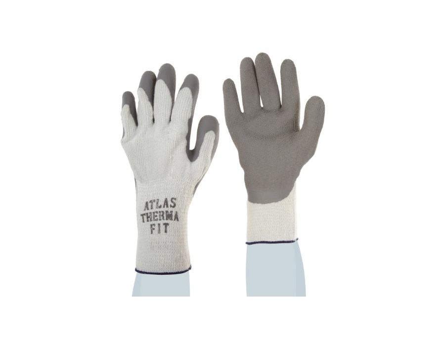The rough textured grip allows slippery objects to be gripped firmly, and warm b/c of a seamless cotton thermal liner.