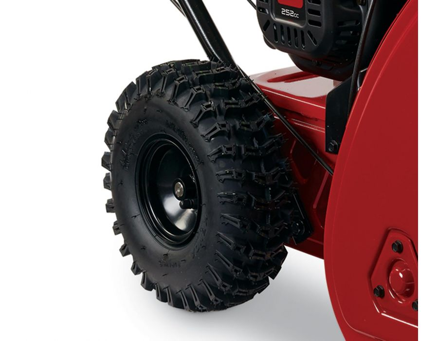 Toro Snowmaster 36002 11 inch deep lug tires - Directional deep lug wheels for added traction.