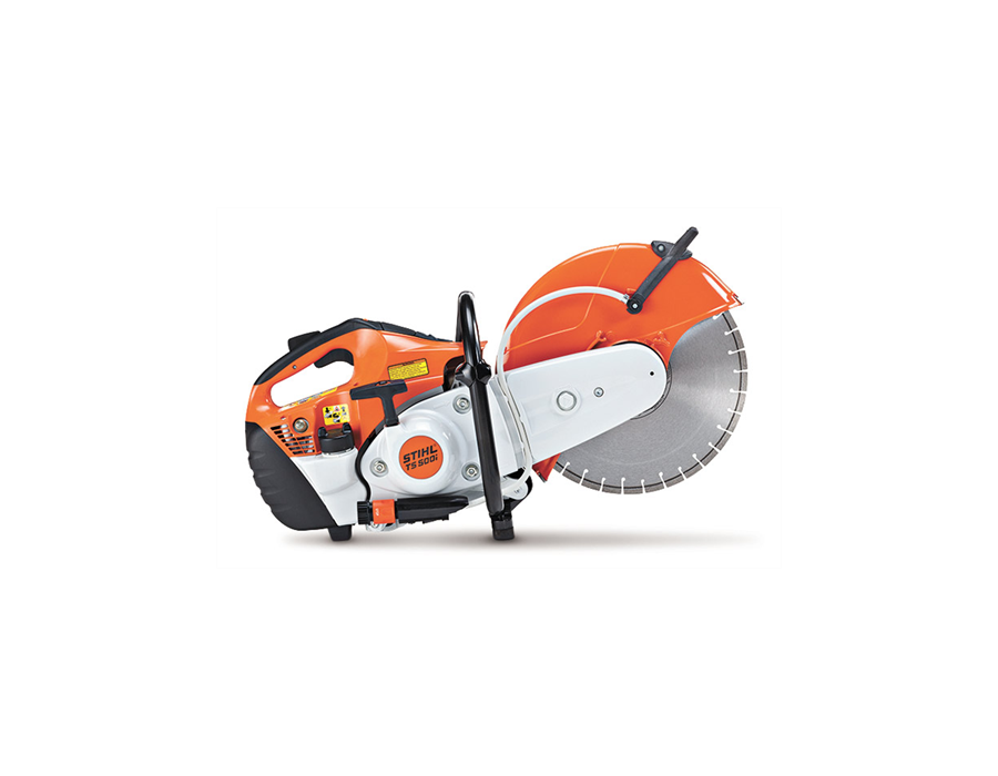 STIHL TS 500i cut-off saw. Shown here with diamond wheel.
