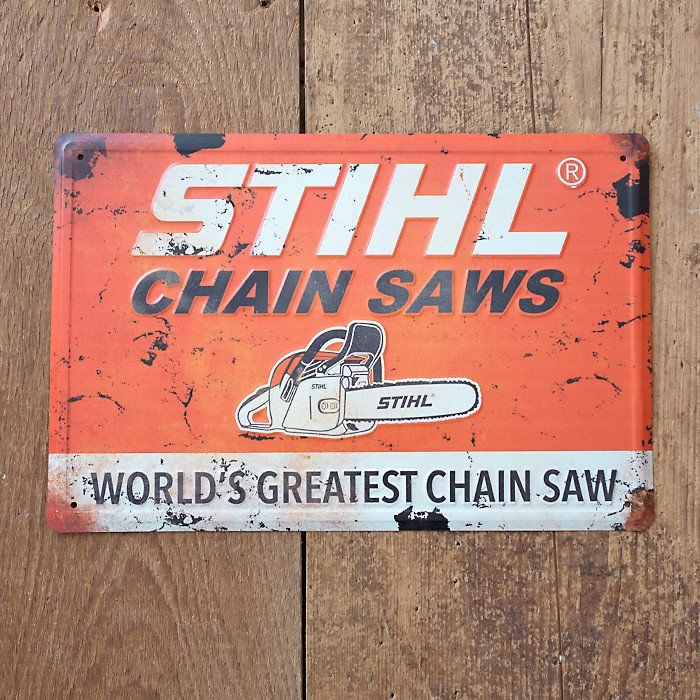 STIHL Vintage Chainsaws Sign