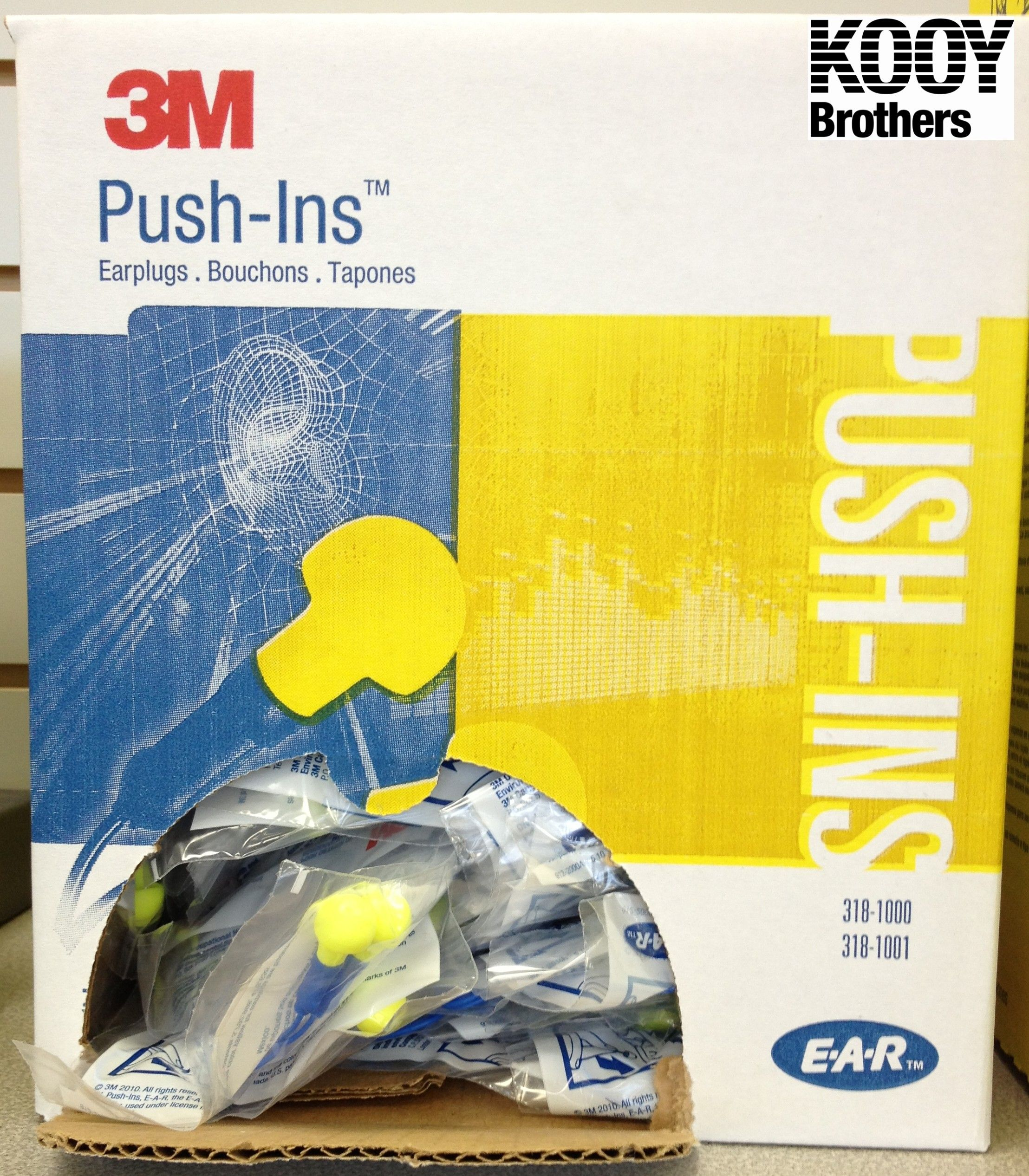 Push-in Ear Plugs by 3M - purchase single or case