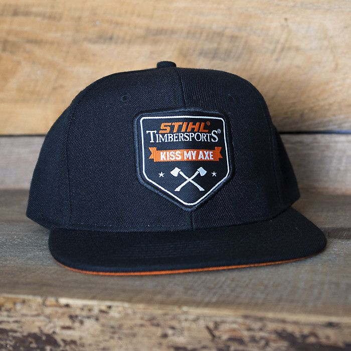 STIHL Flat Brim Hat with KISS MY AXE logo
