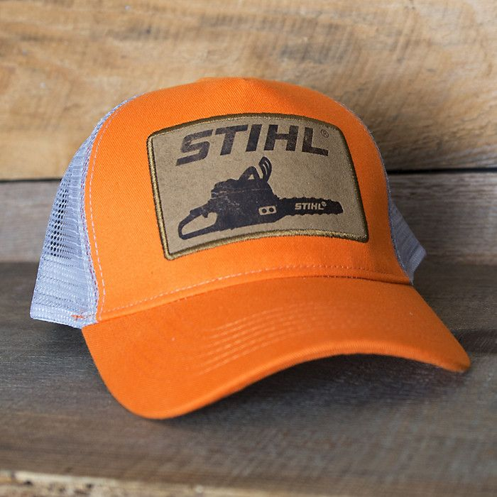 Stihl Orange Mesh Back Patch Hat