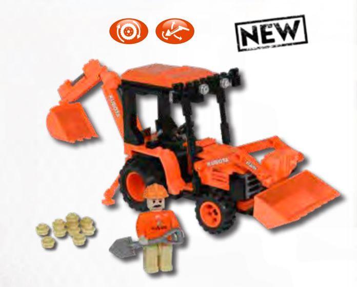 Kubota Tractor Building Blocks Set