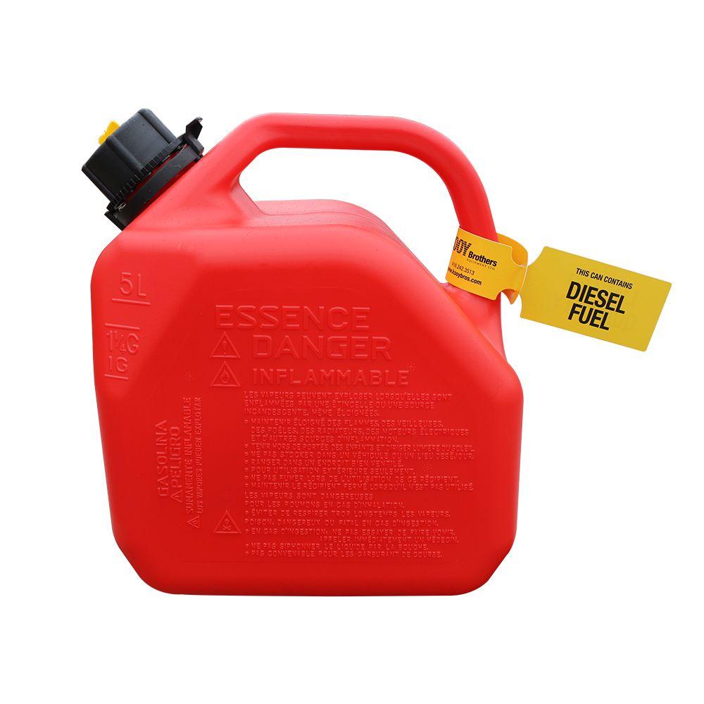 Diesel Fuel Can Tag