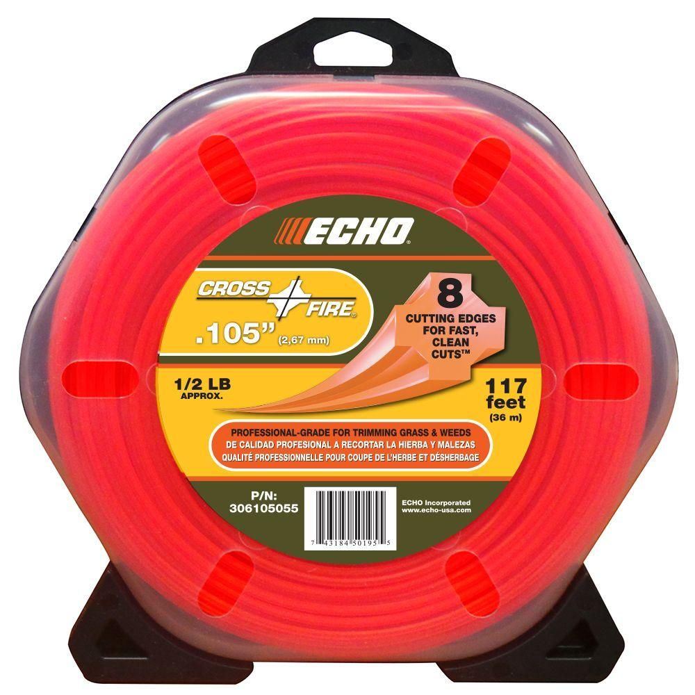 ECHO .105 Nylon Cross Fire Trimmer Line 0.5lb roll