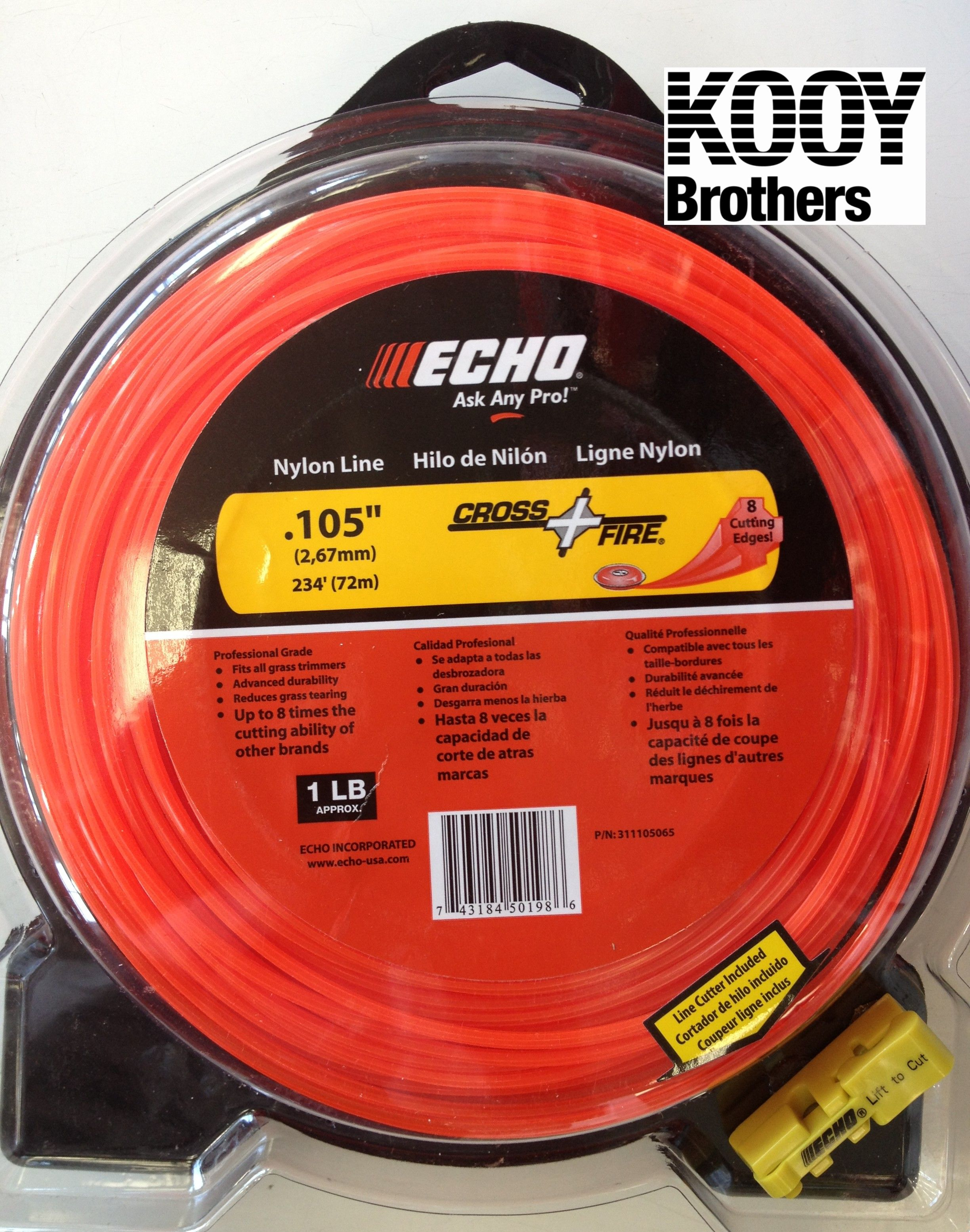 ECHO .105 Replacement Trimmer Line 1lb roll
